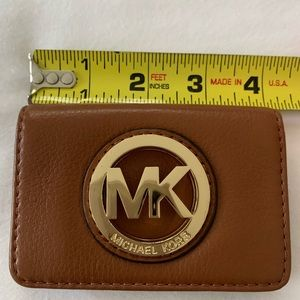 Michael Kors slim leather card wallet